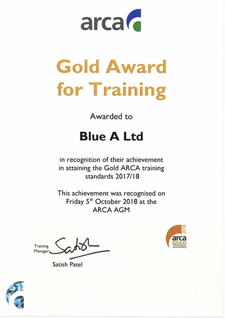 2018-Gold-Award-ARCA-for-Training-05.10.18