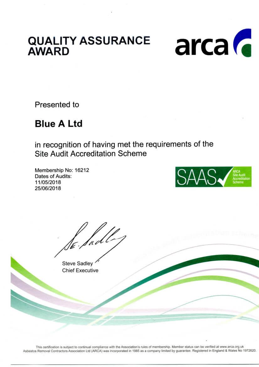2018 Quality Assurance Award ARCA exp.25.06.18 - Home