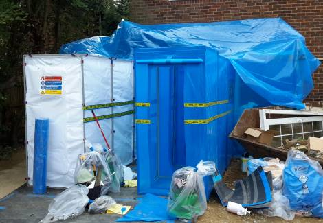 asbestos removal equipment - Asbestos Guttering Removal