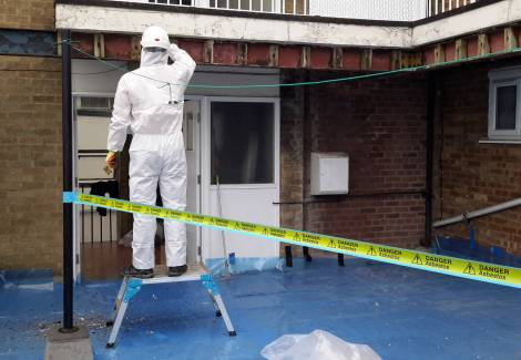 asbestos site survey 3 - Asbestos Roofs, Ceilings and Shingles Removal