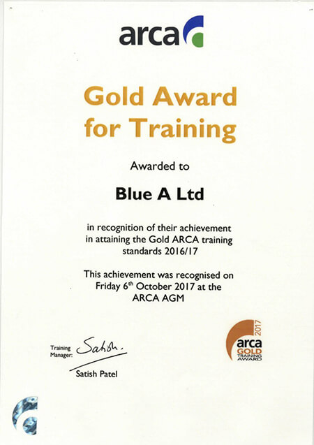 2017 gold award for training 1 - Home